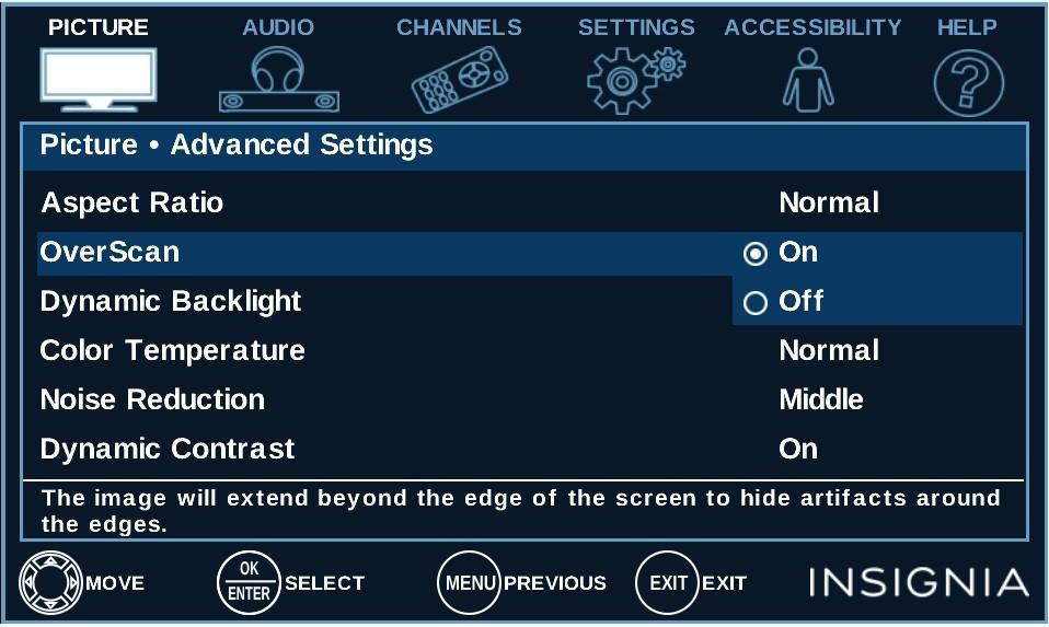 HDTV Over scan:它是什么,你应该怎样把它关闭