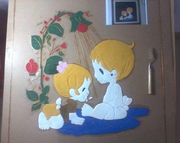沙贴画--童年