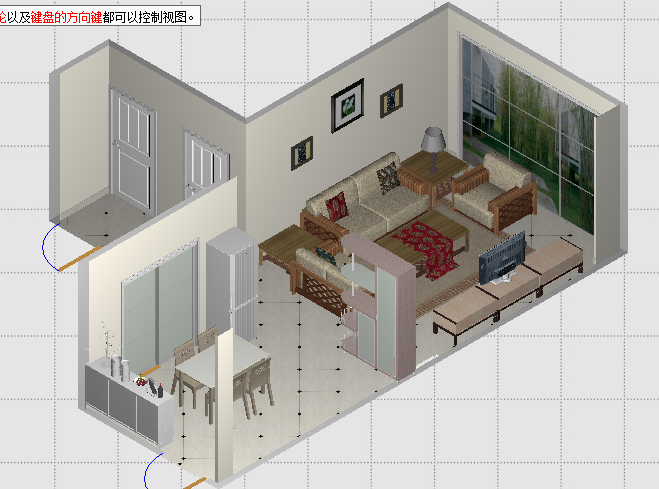 室内装修布局图-客厅