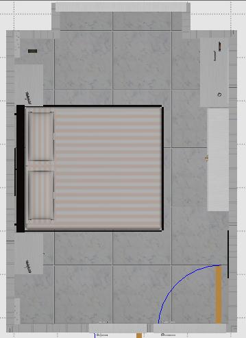 室内装修布局图-卧室A