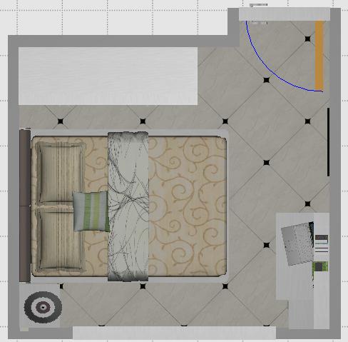 室内装修布局图-卧室B