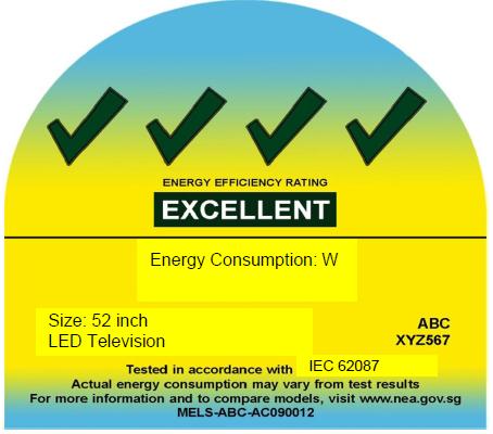 新加坡电视产品强制性能源标签计划